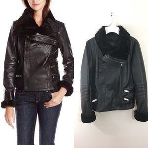 Badgley Mischka leather jacket Size XS